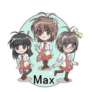 ロゴ キャラクター 製作 サンプル アイドル max 001
