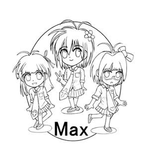 ロゴ キャラクター 製作 サンプル アイドル max 002